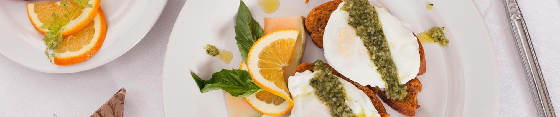 Poached Eggs with Pesto